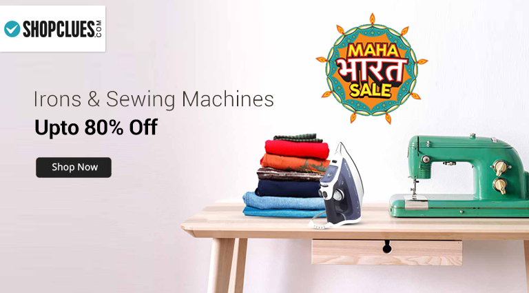 shopcluescom irons and sewing machine