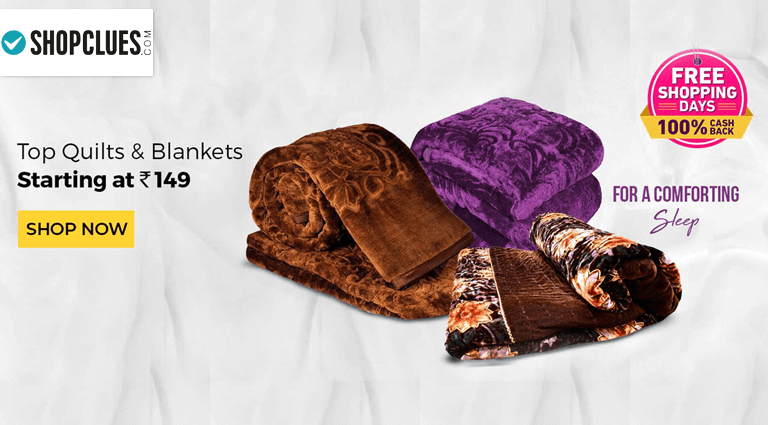 shopcluescom top quilts and blankets