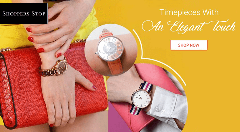shoppersstopcom timepieces with an elegant touch