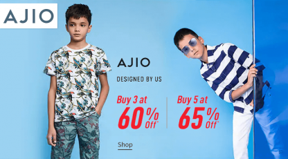 ajiocom designed by ajio for kids
