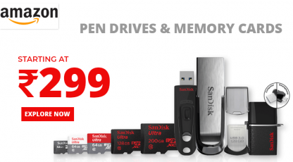 amazon pen drives and memory cards