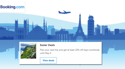 bookingcom easter deals