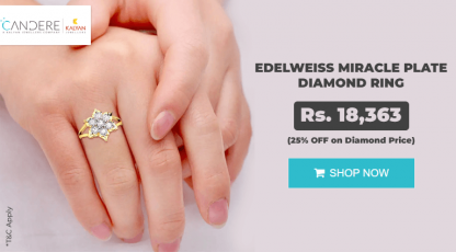 candere miracle plate diamond ring