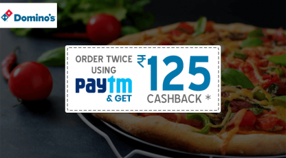 dominos pizza paytm cashback offer