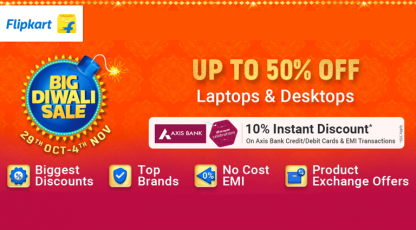 flipkart biggest discount offer on laptop desktops