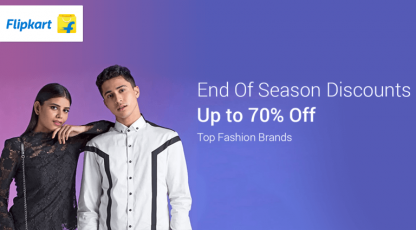 flipkart end of season discounts