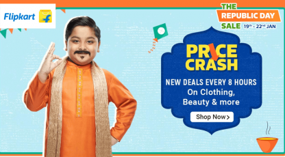 flipkart price crash deals