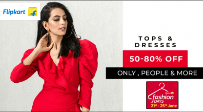 flipkart tops and dresses collection