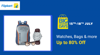 flipkart watches bags and more