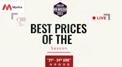 myntra best price on the season