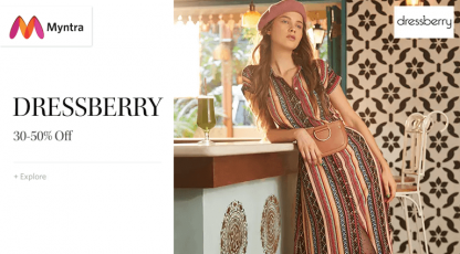 myntra dress berry