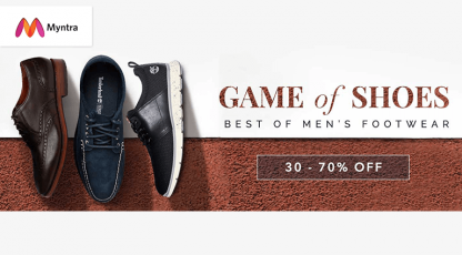 myntra game of shoes