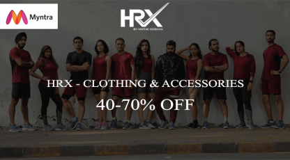 myntra hrx clothing and accessories
