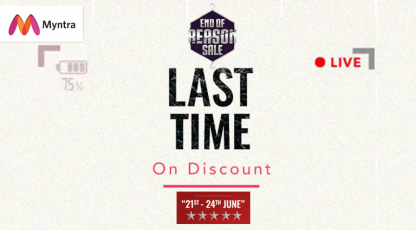 myntra last time on discount