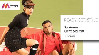 myntra sportswear collection