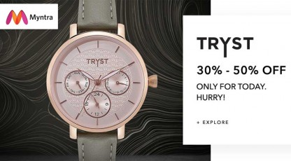 myntra tryst watch collection