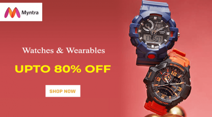 myntra watches and wearable