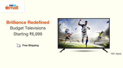 paytm mall brilliance redefined budget television