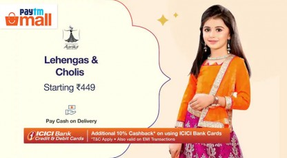 paytm mall kids lehenga and cholis