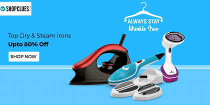 shopcluescom top dry steam iron