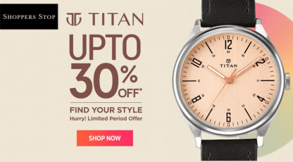 shoppersstopcom titan watch collection