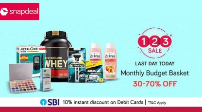 snapdeal monthly budget basket