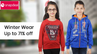 snapdeal winter wear for girls