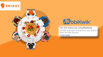 swiggy mobikwik supercash deals
