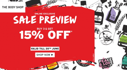 the body shop online exclusive sale preview