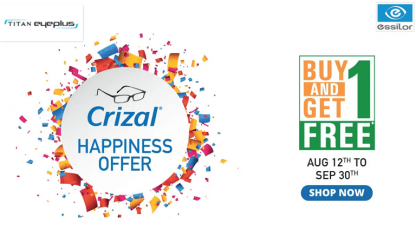 titan eyeplus crizal happiness offer