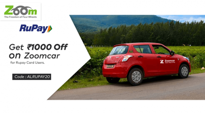 zoomcarcom best offer with rupay card