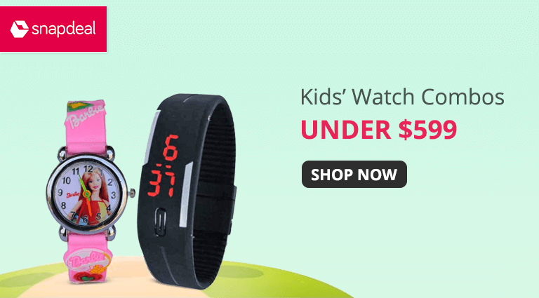 snapdeal kids watch combos
