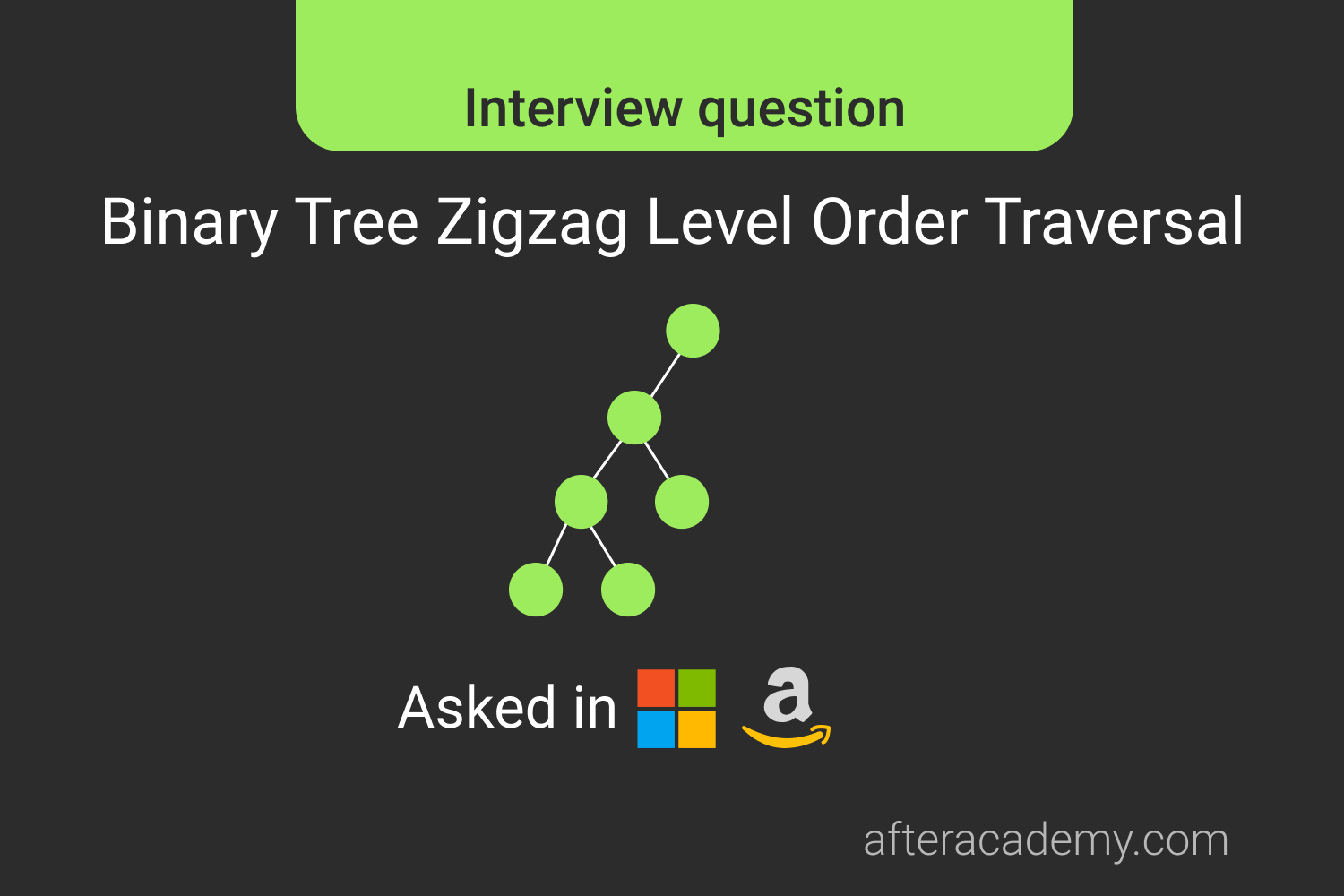Binary Tree Zig Zag Level Order Traversal