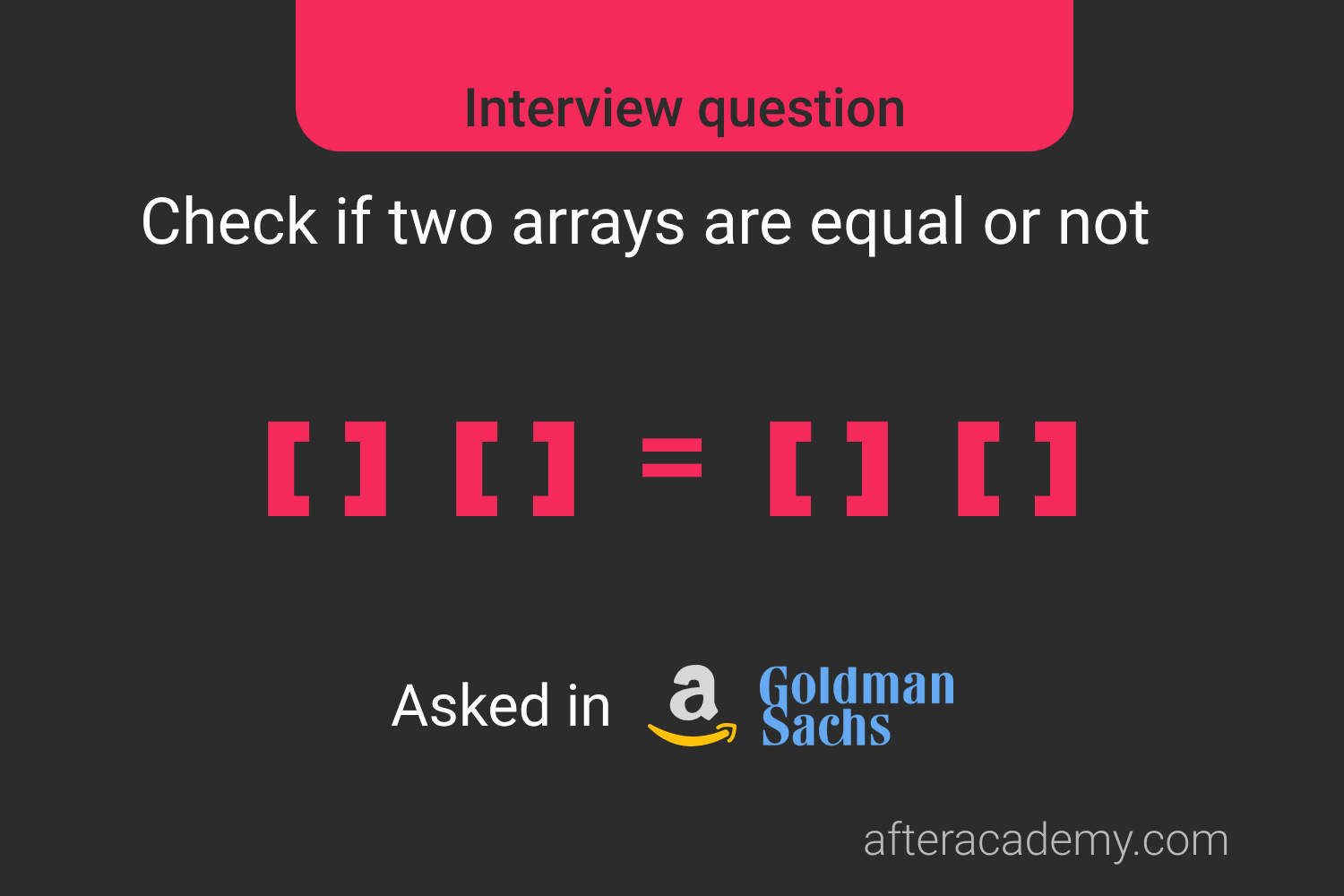 Check If Two Arrays Are Equal Or Not
