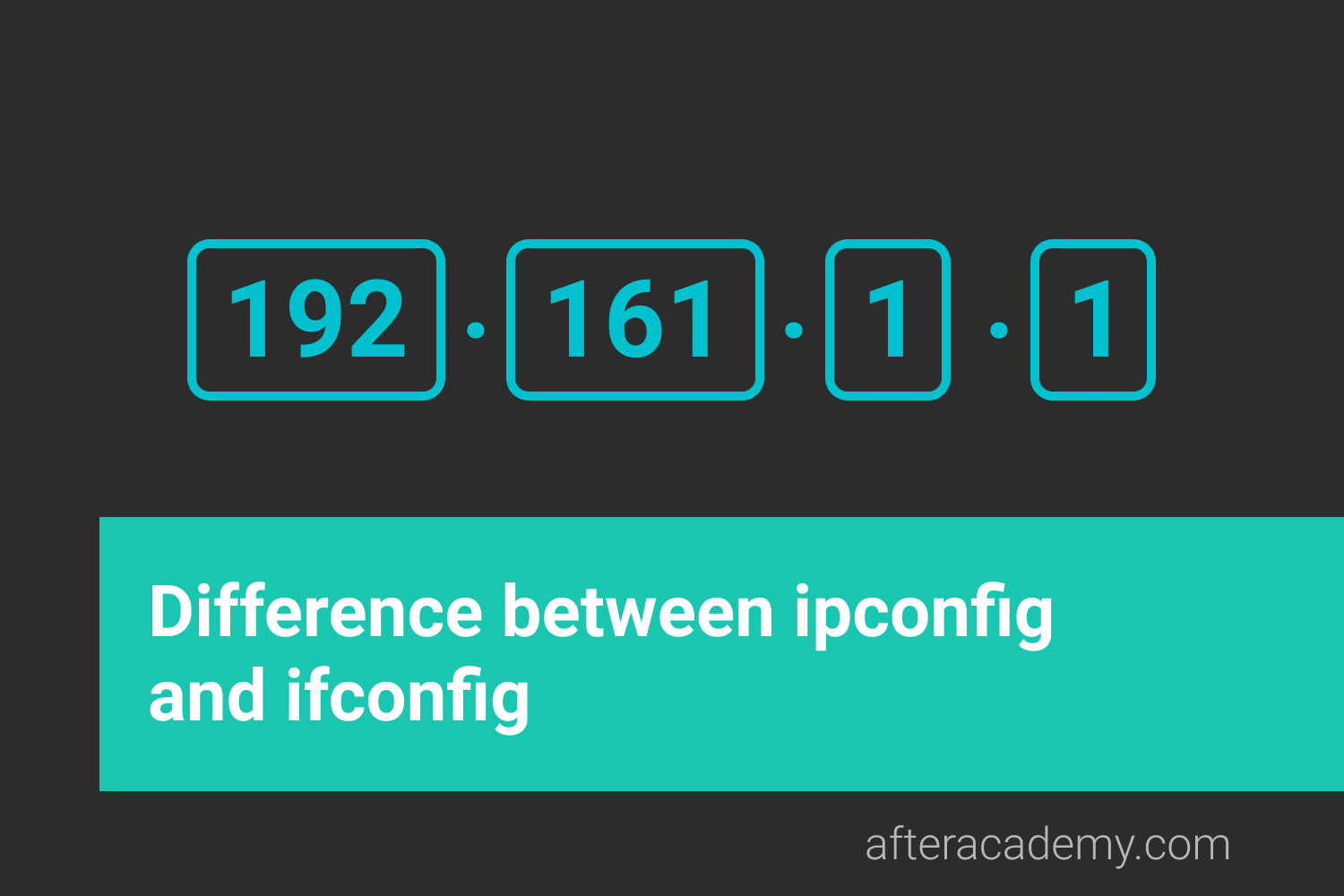 Difference between ipconfig and ifconfig?