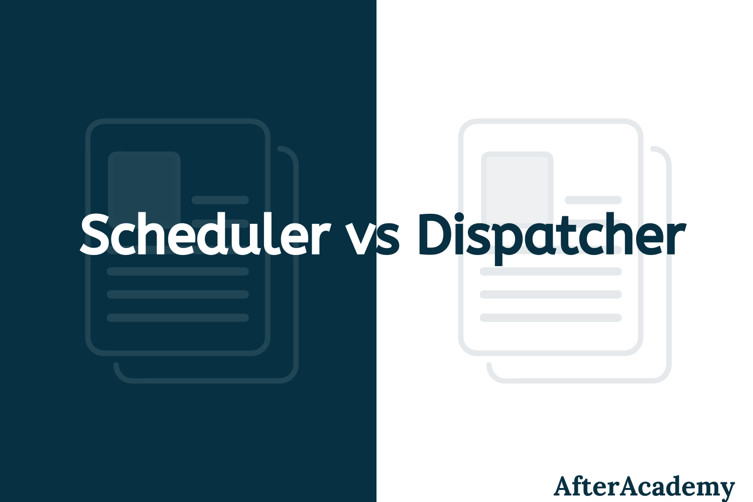 Difference between Scheduler and Dispatcher