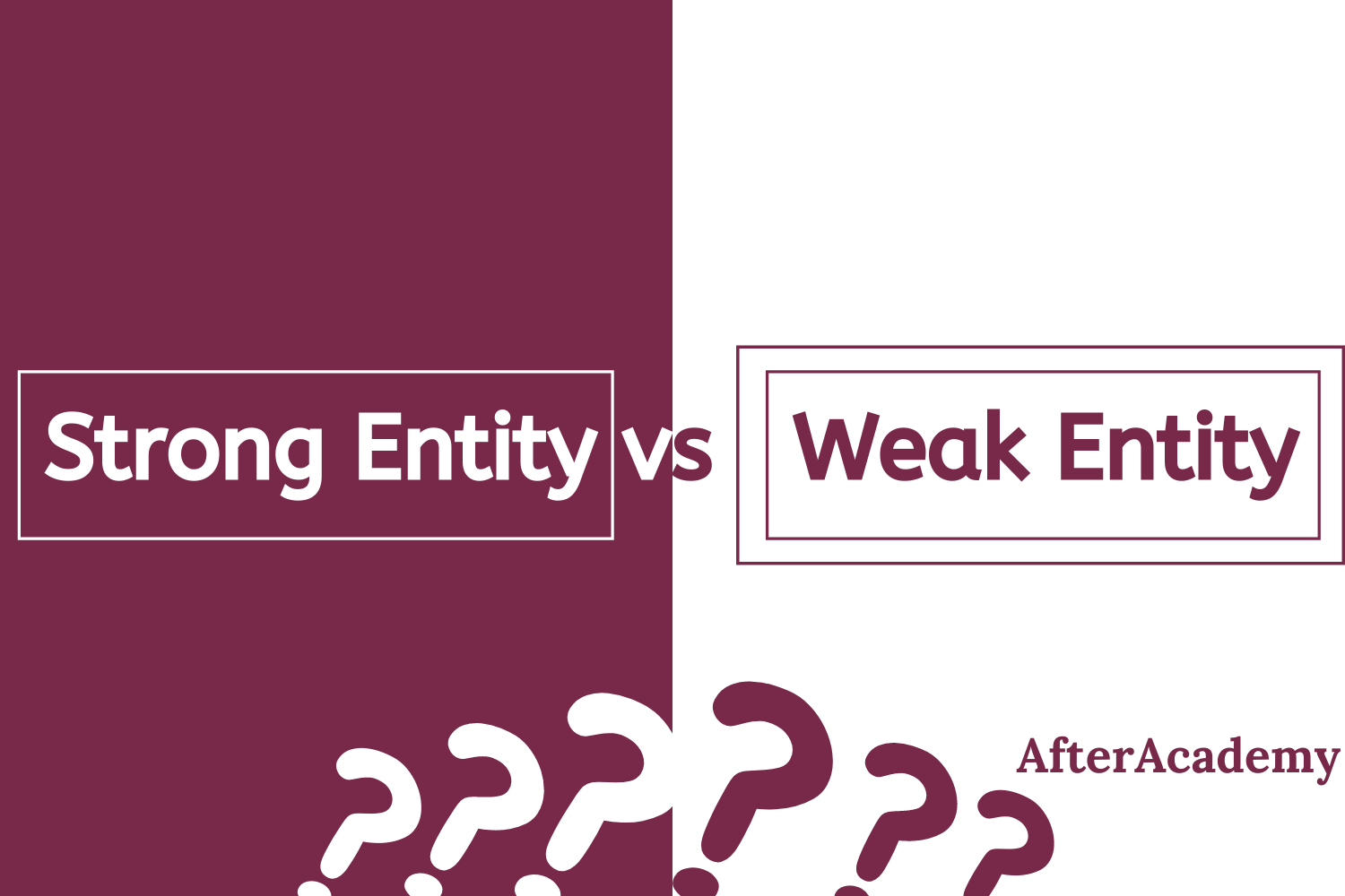 Differentiate between Weak and Strong entity