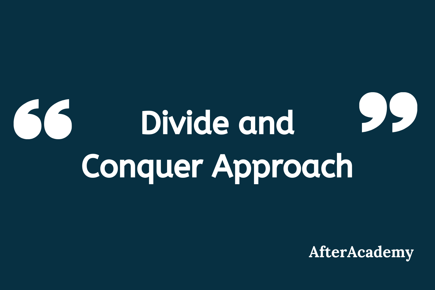 Divide and Conquer Approach in Programming