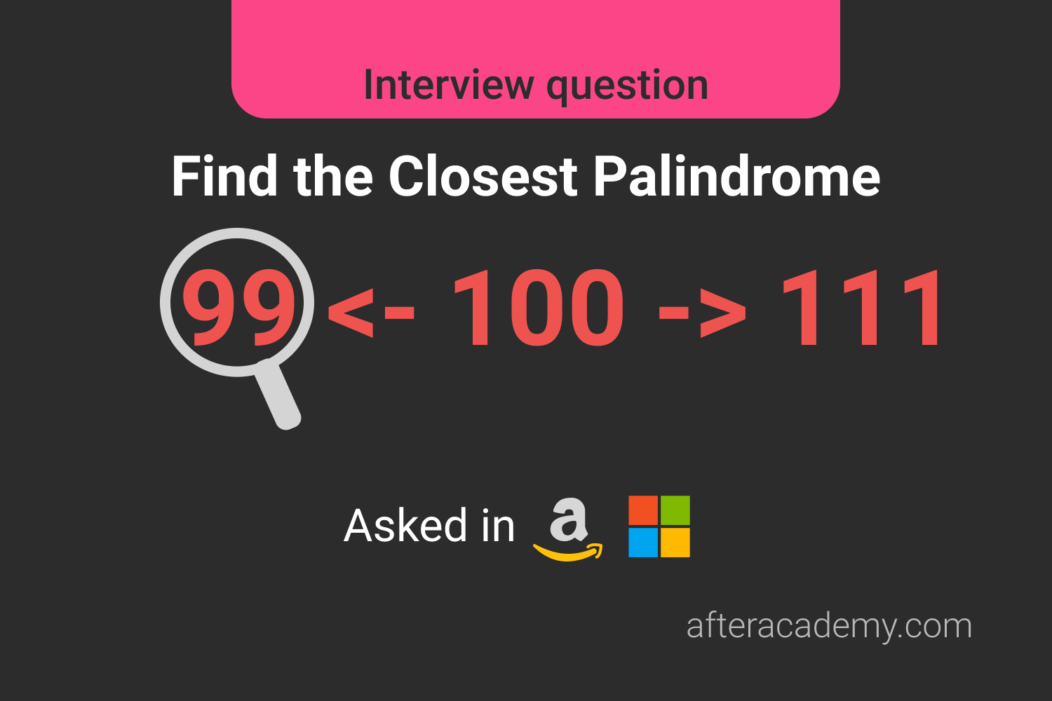 Find the Closest Palindrome
