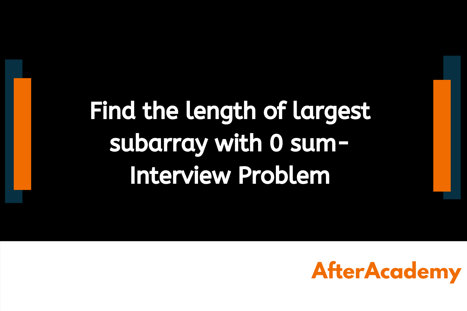 Find the length of largest subarray with 0 sum