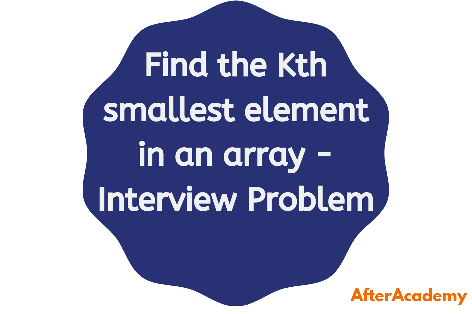 Find the kth smallest element in an array