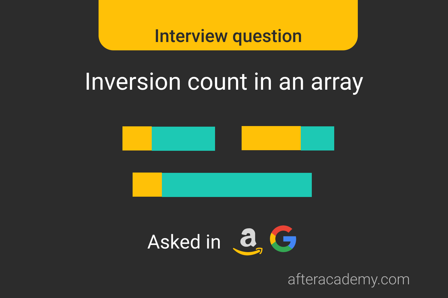 Inversion Count in an Array-Interview Problem