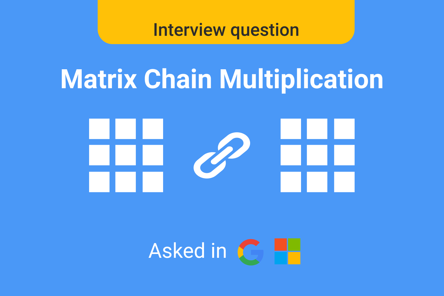 Matrix Chain Multiplication