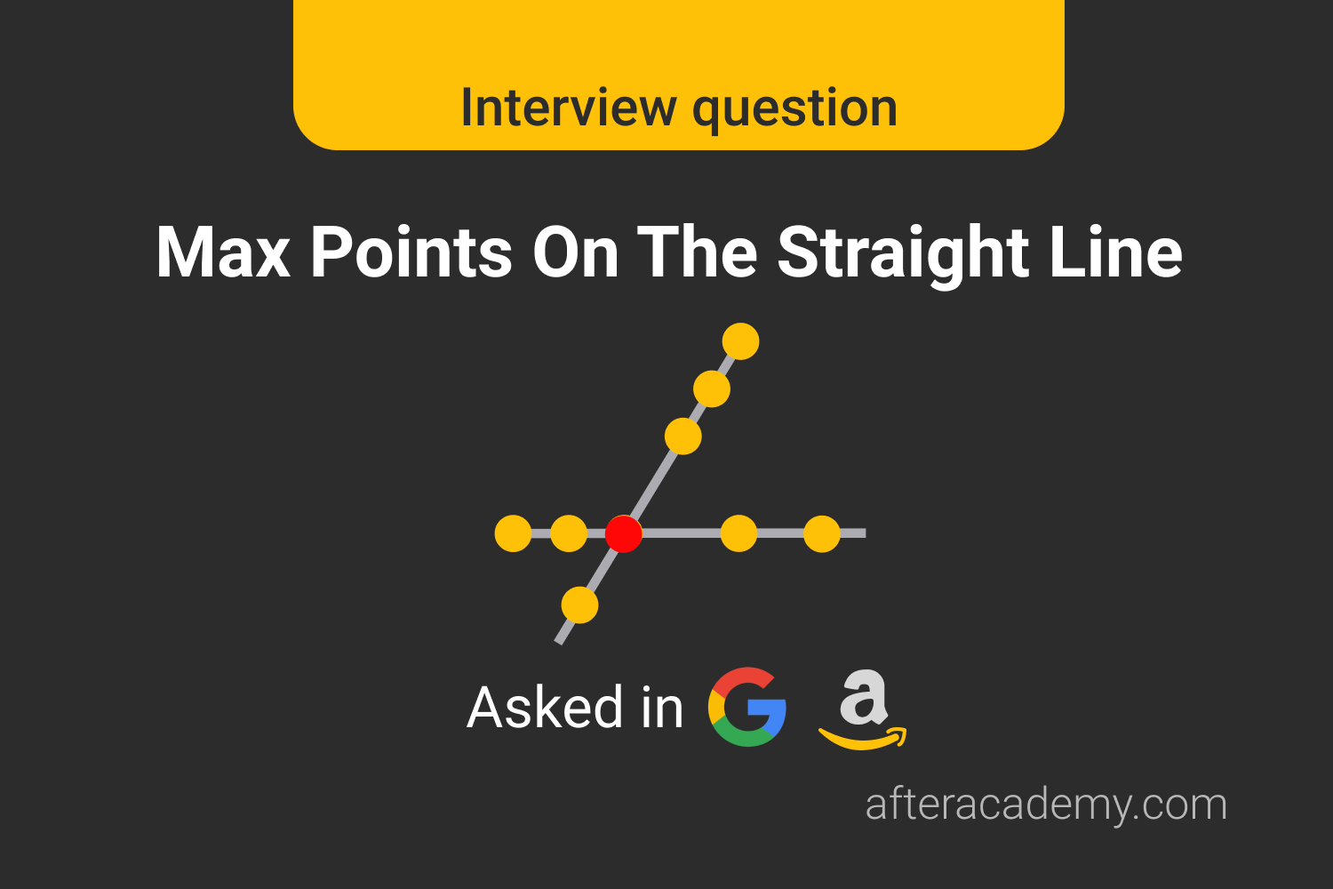 Max Points On The Straight Line