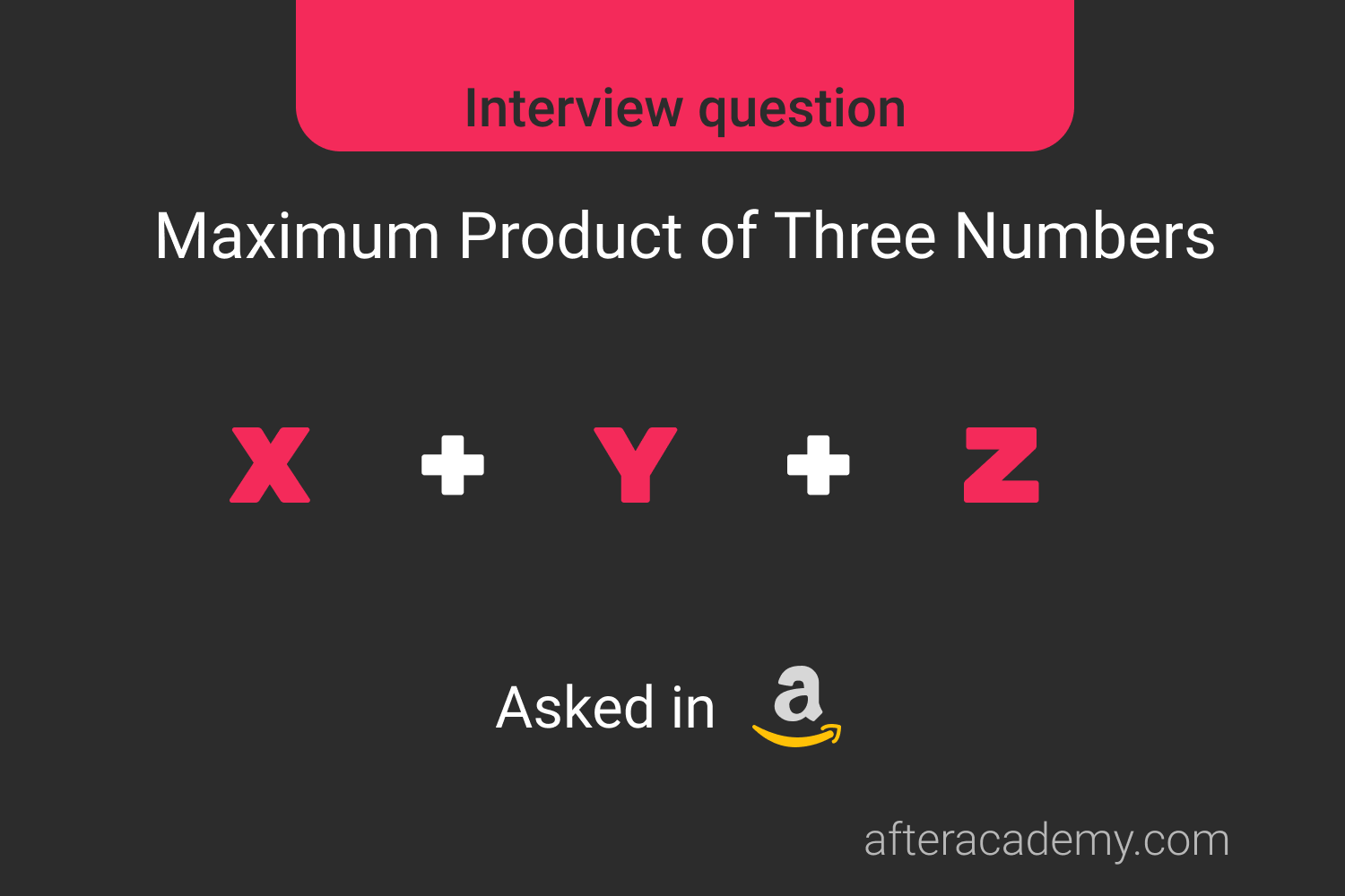 Maximum Product Of Three Numbers