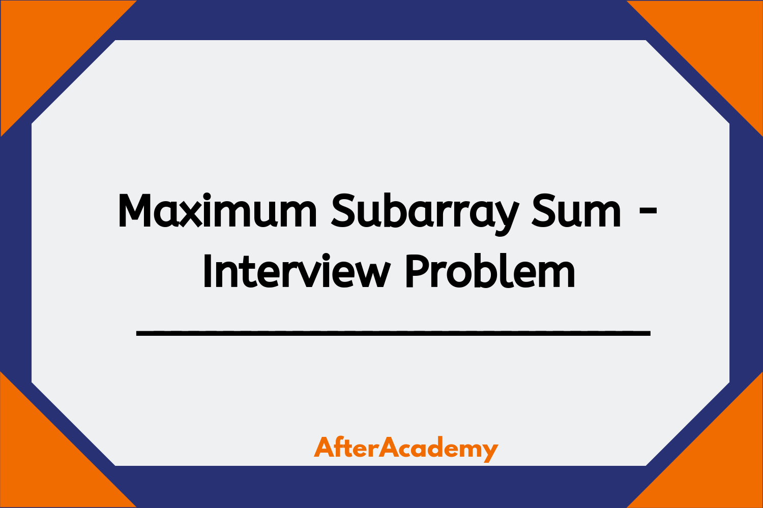 Maximum Subarray Sum