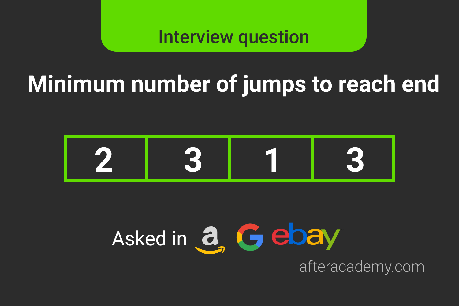 Minimum Number Of Jumps To Reach End