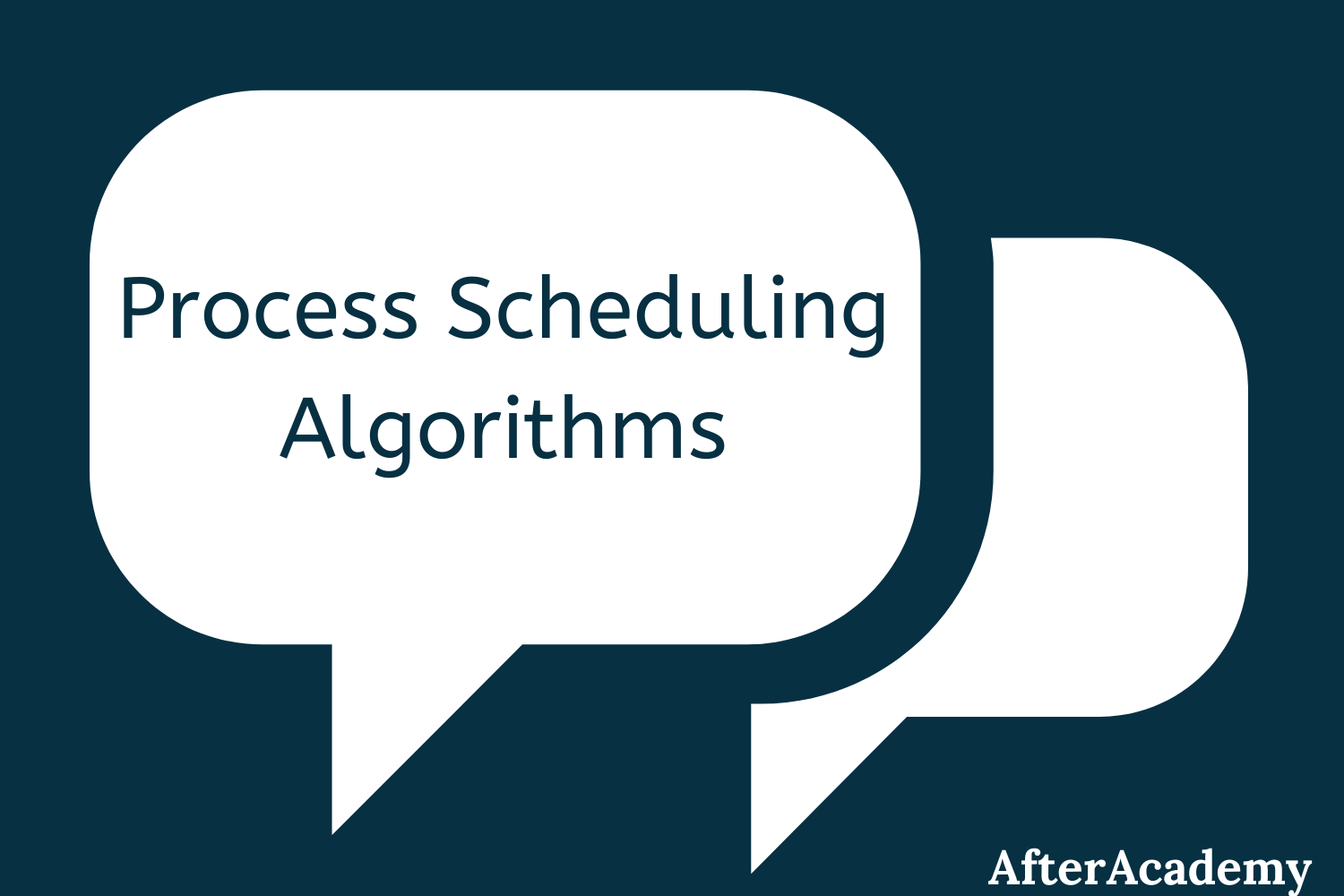 Process scheduling algorithms in the Operating System