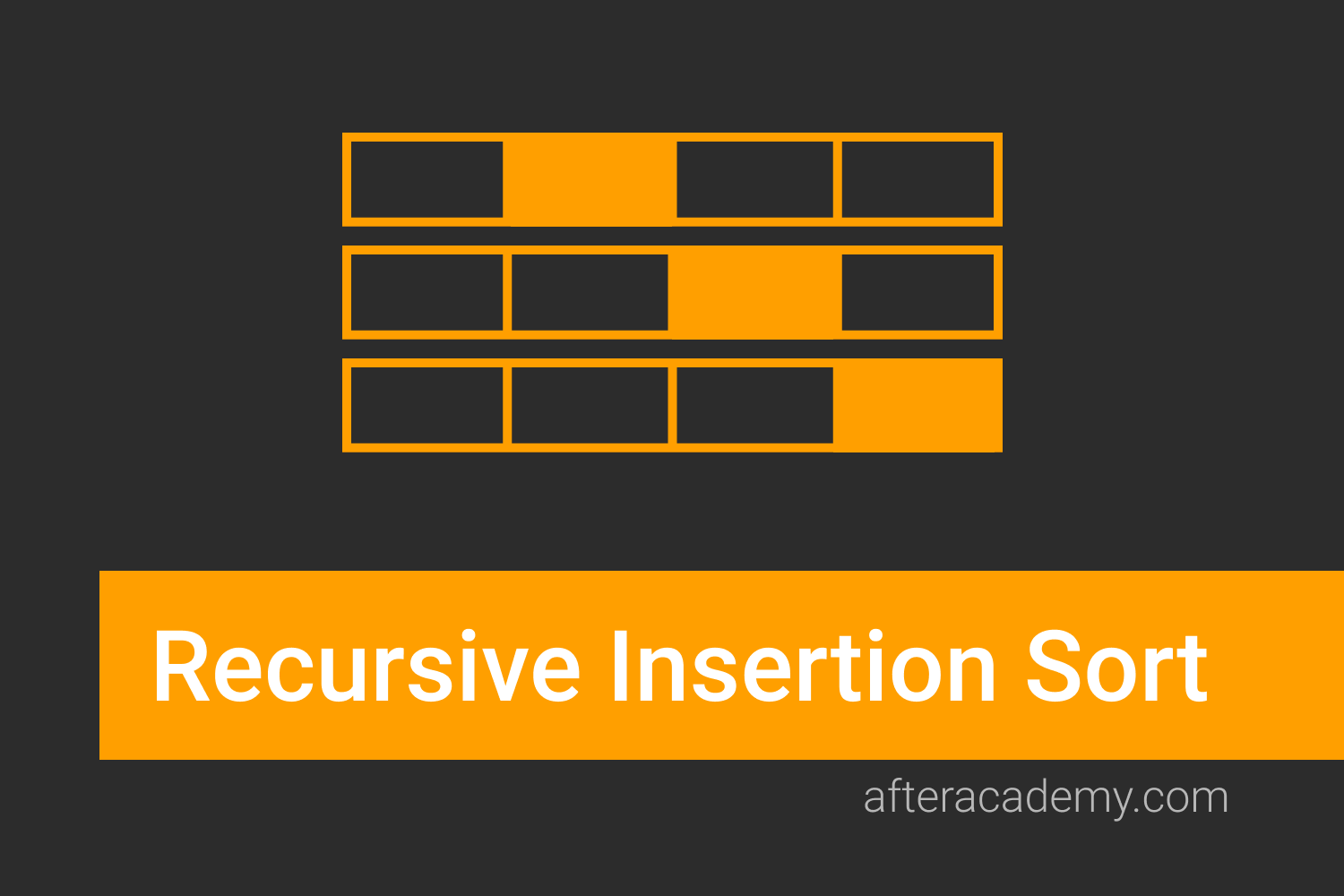 Recursive Insertion Sort