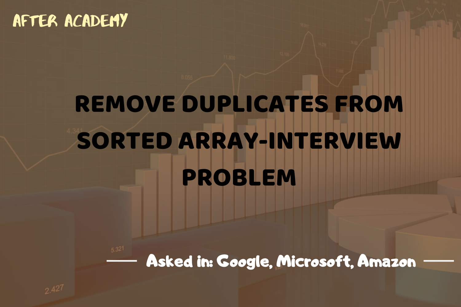 Remove Duplicates in a Sorted Array-Interview Problem